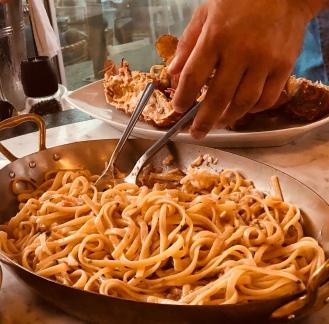 Slipper Lobster pasta