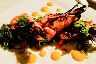 Grilled prawns appetiser