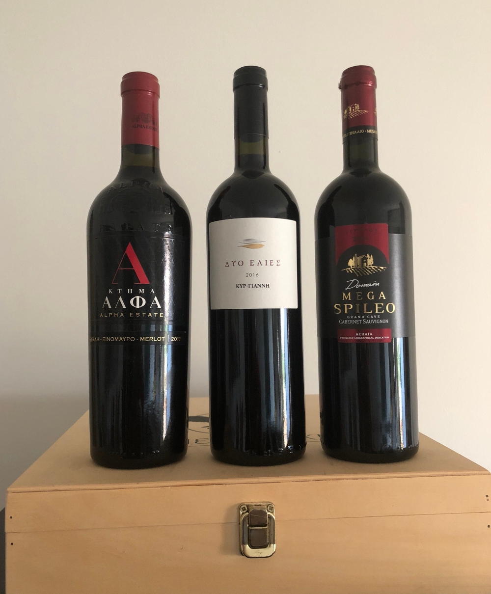 Top quality Greek red wines