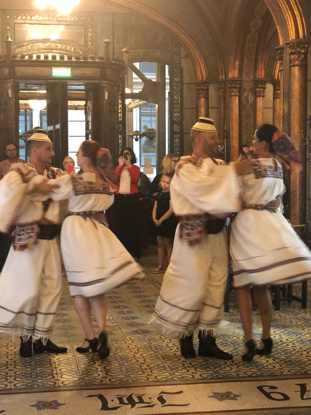 Traditional Romanian dancing.